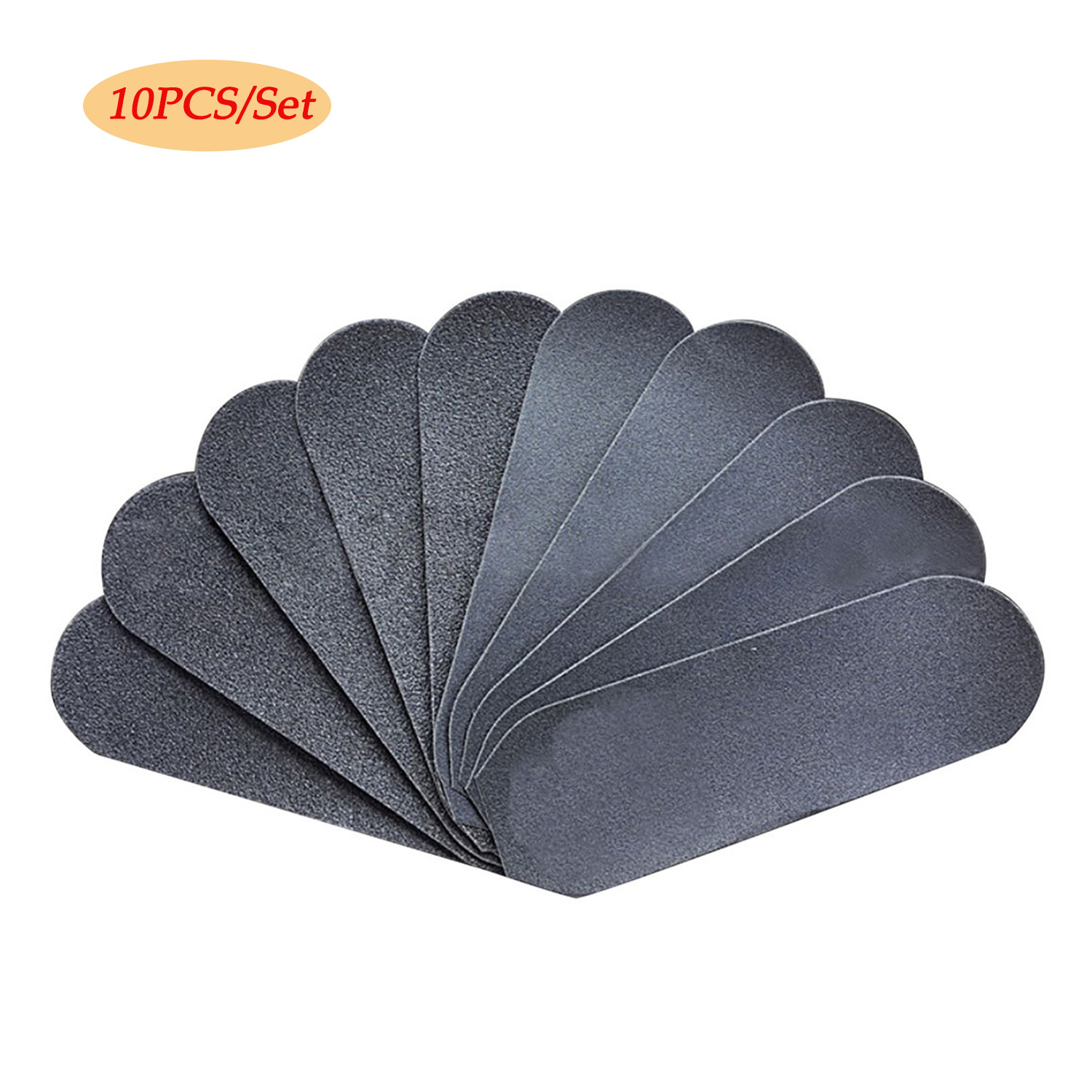 10pcs Sand Paper Replacement Grits Pad For Stainless Steel Double Sided Foot Rasp File Calluses Remover Pedicure Foot Care Tool