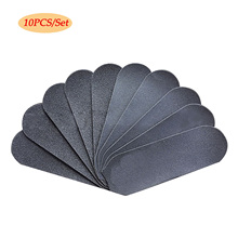 10pcs Sand Paper Replacement Grits Pad For Stainless Steel Double Sided Foot Ras