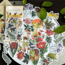 Naifumodo 60pcs/pack Natural Plant Stickers Pack Posted It Kawaii Planner Scrapbooking Stationery School Supplies