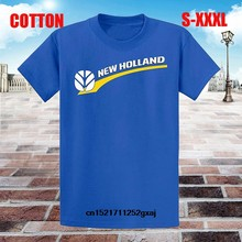 Men T shirt Fashion New Holland Tractor Logo s Blue Cotton Casual Short Sleeves Funny Tee Shirt Tops Clothing women(China)