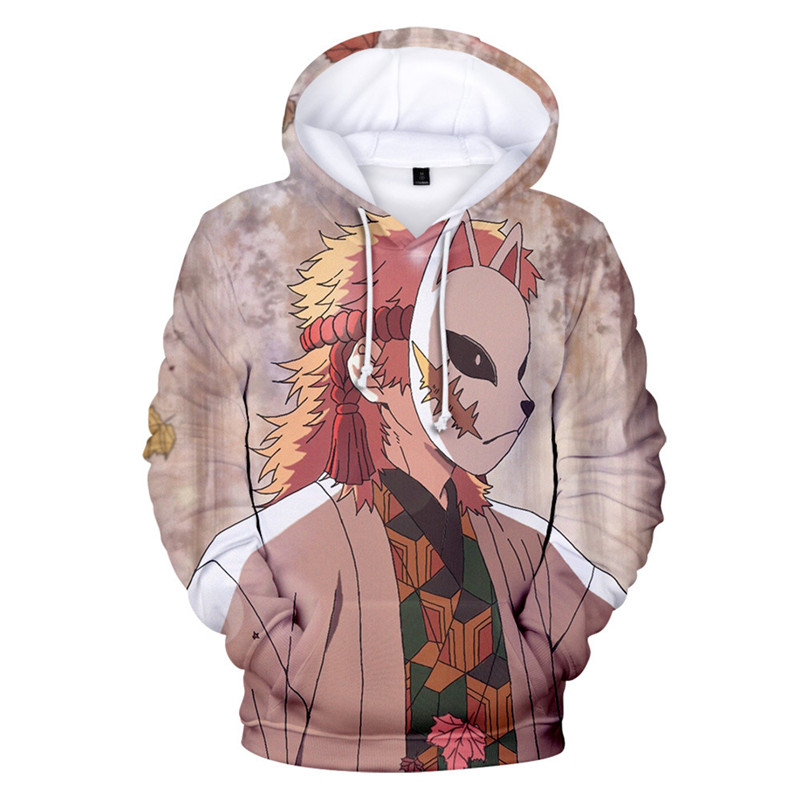 New Anime Demon Slayer 3D Print Hoodie Streetwear Spring Autumn Casual Jacket Sweatshirts Cosplay Costume Pullover Coat Plus Size (9)