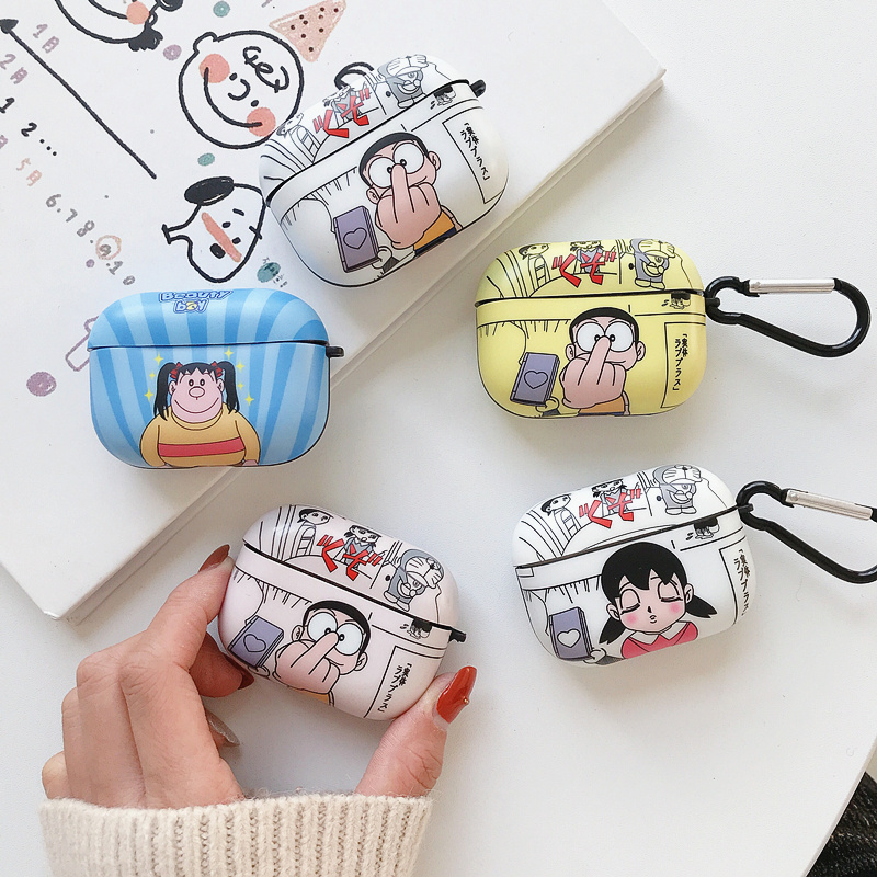 Airpods Pro <font><b>Case</b></font> earphone box cute cartoon <font><b>Bluetooth</b></font> <font><b>headset</b></font> protective cover with hook, suitable for Airpods 1/2/3 image