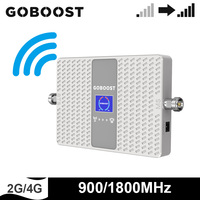 GOBOOST Dual band 2g 4g Cell Phone Signal Booster GSM 900 1800 MHz Cellular Repeater Network Amplifier Band 3