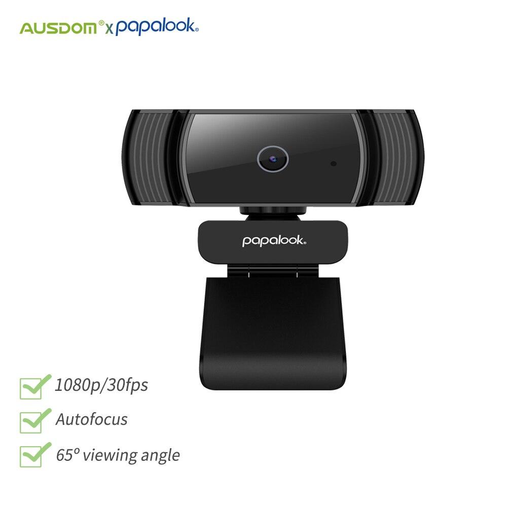 PAPALOOK AF925 1080P מצלמת Full HD CMOS פוקוס אוטומטי עם מיקרופון USB אינטרנט מצלמה ועידת וידאו מיני מצלמת אינטרנט למחשב מחשב נייד מחשב