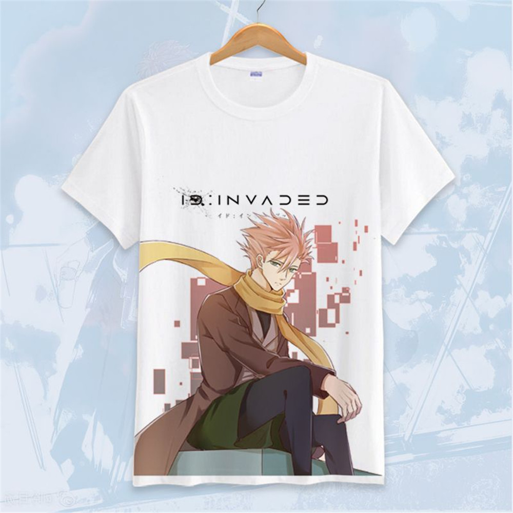Cosplay Anime ID: INVADED Akito Narihisago Koharu Hondomachi T-shirt For Men Women Kids Summer Short-sleeved T-shirt Top Costume