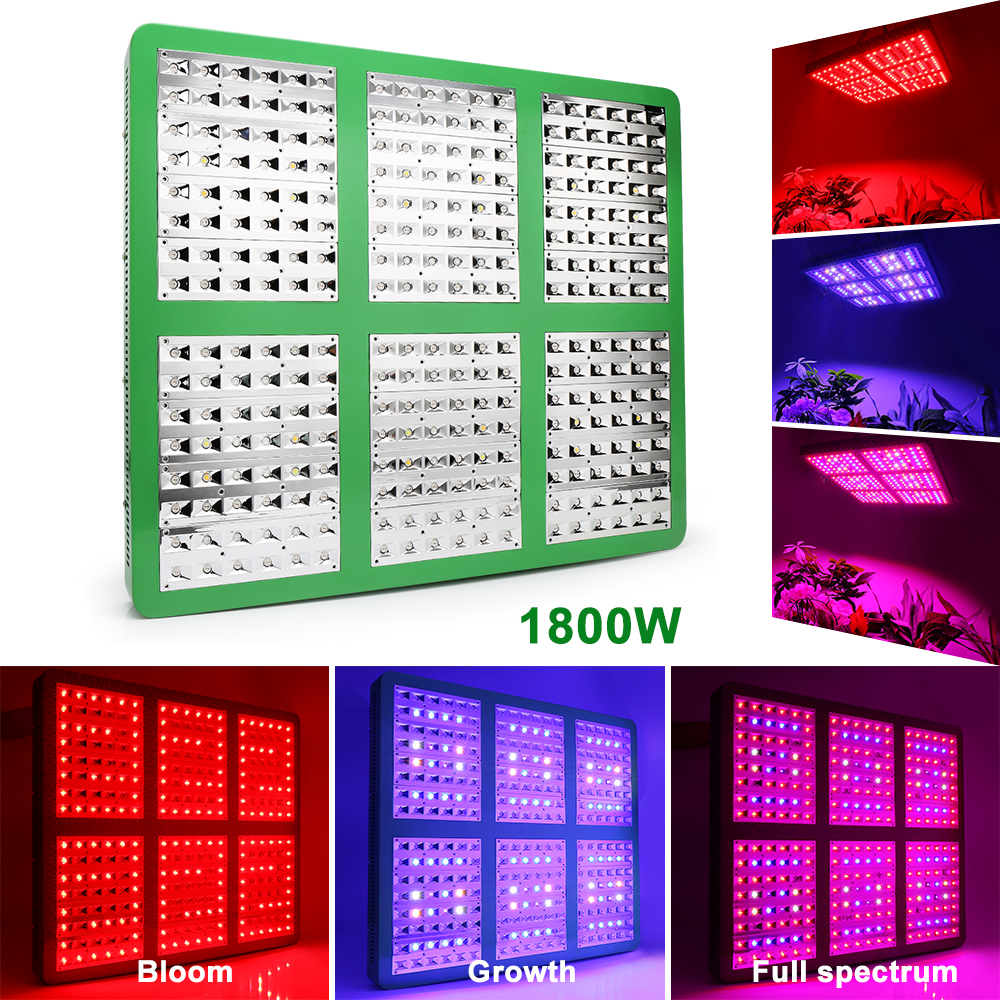 LED Grow Light For Indoor Plants Double Switch Full Spectrum With UV&IR Greenhouse Hydroponic Seedling Veg Flower Full Spectrum