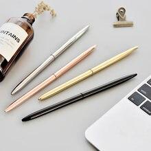 Металлическая Роскошная золотистая Шариковая Ручка 07 мм для