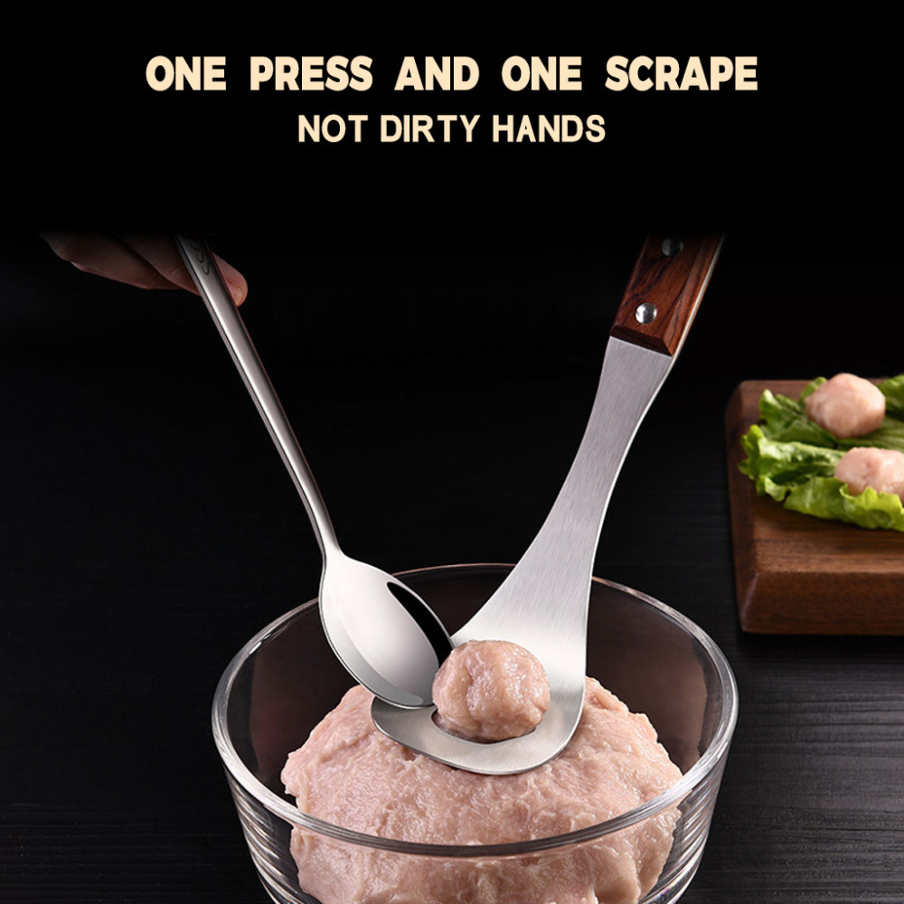 Meatball Maker Spoon Non-Stick Creative Meatball Maker Stainless Steel Kitchen Meat Ball Mold Spoon Kitchen Gadget Meat Tools