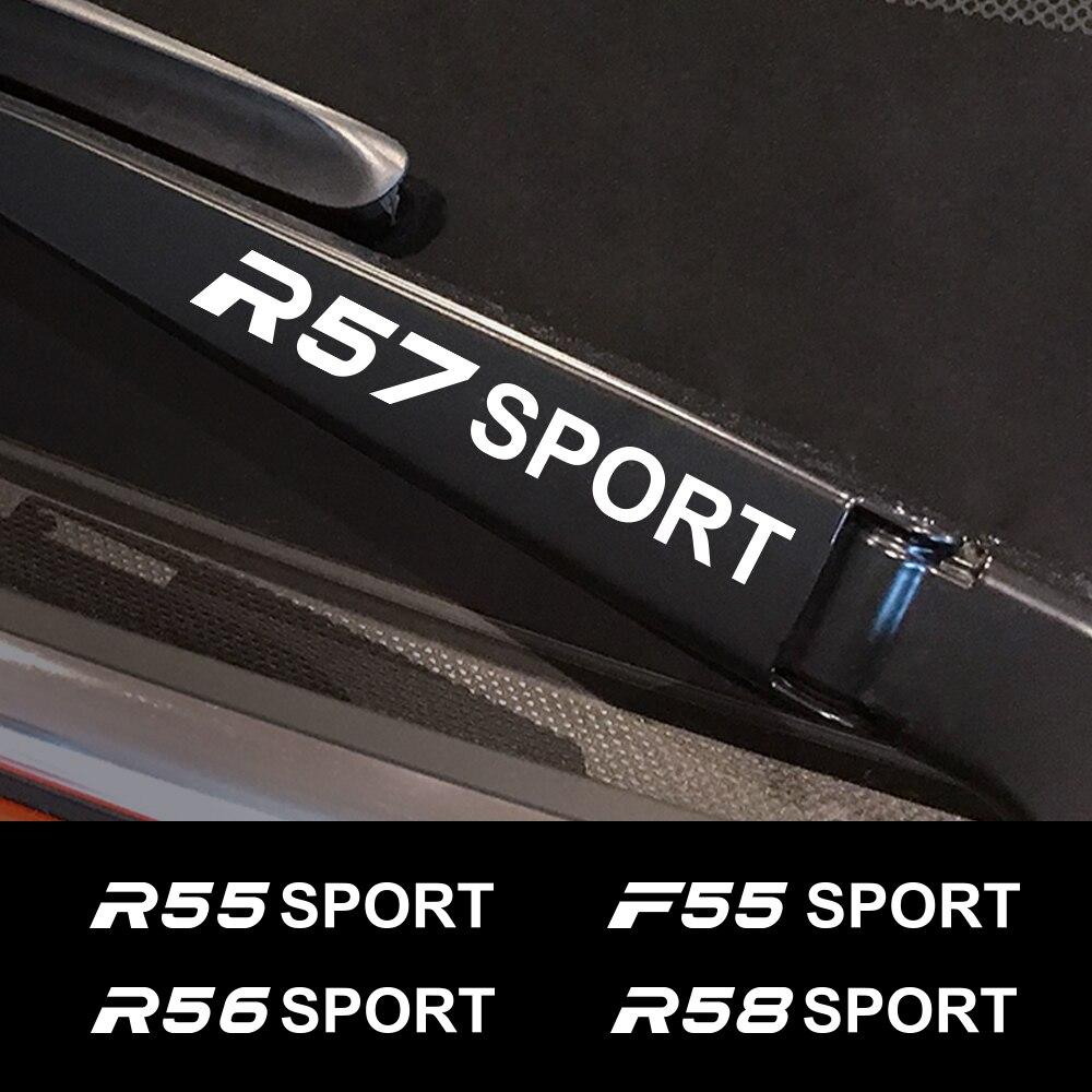 4PCS רכב מדבקה למיני קופר F56 F54 F57 F55 F60 R50 R52 R53 R55 R56 R57 R58 R59 r60 R61 אוטומטי חלון מגב מדבקות אביזרים