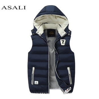 Hooded Men Winter 2020 Fleece Vest Male Thick Warm Waistcoat Cotton Casual Soft Vests Mens Windproof Sleeveless Jacket Parkas Others Men's Fashion