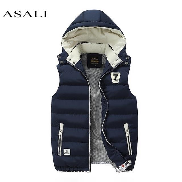 Hooded Men Winter 2020 Fleece Vest Male Thick Warm Waistcoat Cotton Casual Soft Vests Mens Windproof Sleeveless Jacket Parkas Others Men's Fashion