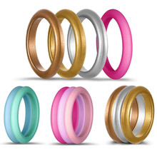 10pcs/lot New Food Grade FDA Silicone Rings for Women Wedding Rubber Bands 3mm Flexible Sports Silicone Finger Ring 4-8 Size 2015 new fda