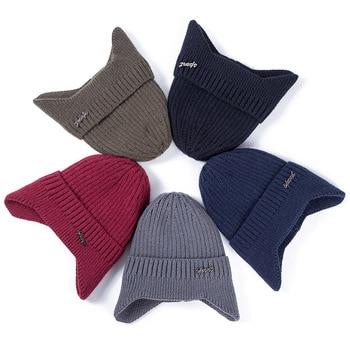 Hot Sale Ear Protection Winter Hats Stylish Soft Beanie Hat For Men Women Classic Knit Earflap Hat Warm Cap With Ears