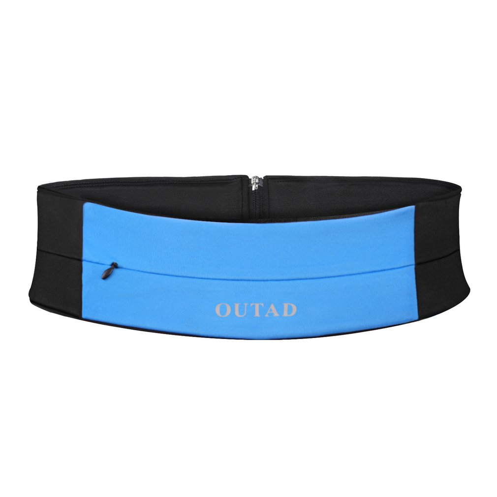 OUTAD Soft Machine-washable Quick-drying High-tech Spandex Yoga Belt Waist Pack With Invisible Zipper For Running Gym Exercise
