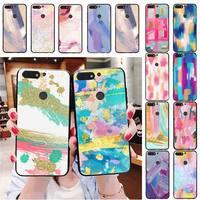 Arte Simple pintura de color pigmento de pintura funda del teléfono para Huawei Honor 7A 8X 9 10 20 lite 10i 20i 7C 8C 5A 8A 9X pro amigo 20 lite
