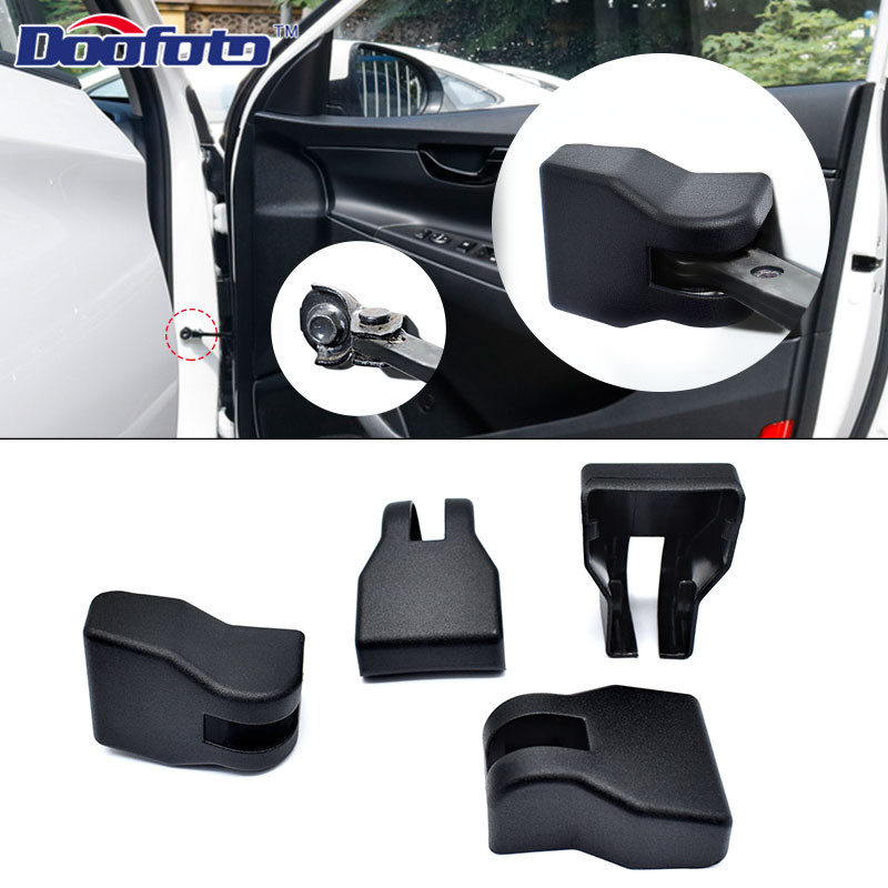 Doofoto 4x Car Door Limiting Stopper Cover For Hyundai Creta Ix25 Ix35 Kona I30 Solaris I20 2019 Protective Accessories