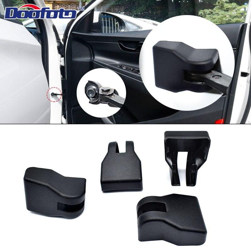 Doofoto 4x Car Door Limiting Stopper Cover For Hyundai Creta Ix25 Ix35 Kona I30 Solaris I20 2019 Protective Accessories