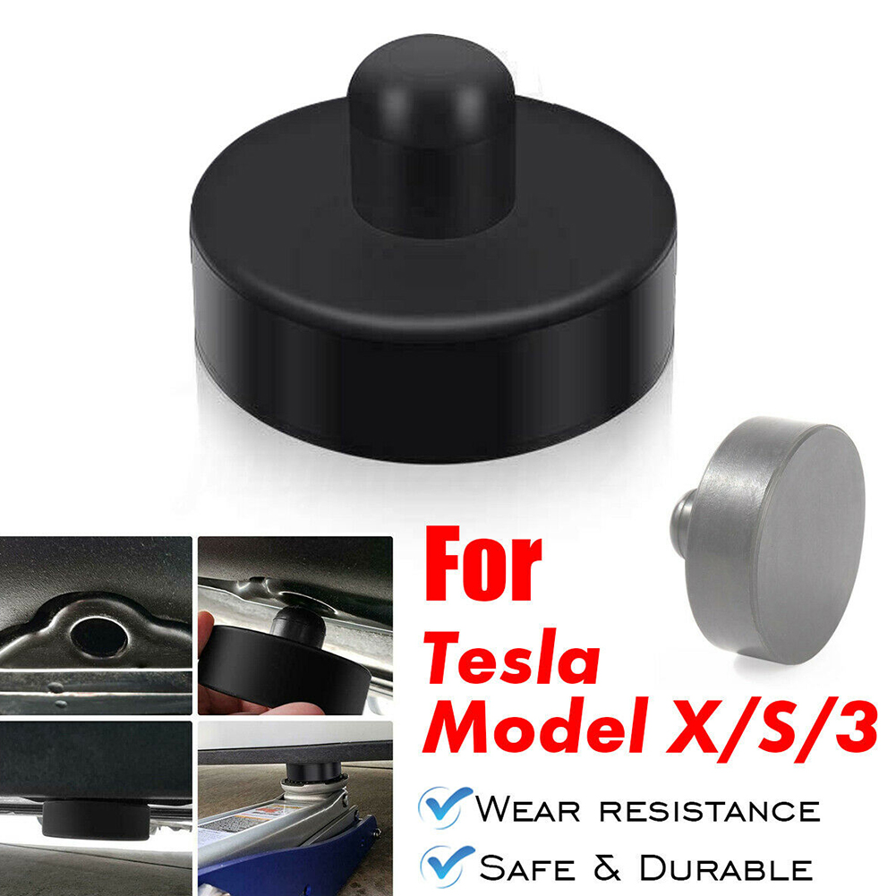 4pcs Repairing Rubber Durable Car Vehicle Round Adapter Protective Chassis Practical Jack Pad Lift Point Auto For Tesla