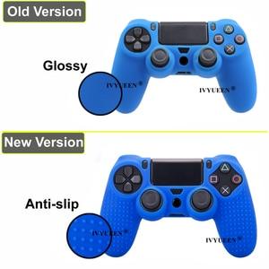 Image 3 - Противоскользящий силиконовый чехол IVYUEEN для контроллеров Sony PlayStation Dualshock 4 PS4 DS4 Pro Slim и стиков захвата, 25 цветов