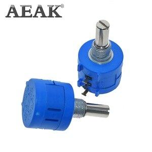 Aeak 3590S Potentiometer Verstelbare Weerstand 500 1K 2K 5K 10K 20K 50K 100K Ohm Multiturn Potentiometer 3590 102 202 502 103