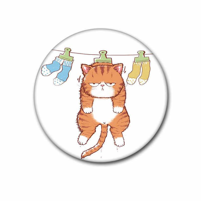 Nengdou T34 kot ikona kot odznaka śliczne harajuku broszka kawaii pin metalowa broszka plecak ikona dekoracji na ubrania DIY rzemiosło
