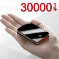 Mini caricabatterie portatile da 30000mAh Power Bank per Xiaomi Samsung Iphone doppia batteria esterna di emergenza esterna USB Powerbank