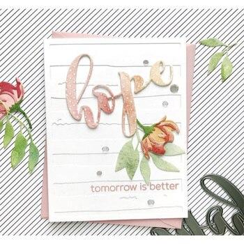 Nowy 2019 wykrojniki i Scrapbooking na wytwarzanie papieru słowo nadzieja pamiętnik tło tłoczenie bez znaczków ramki ręcznie robione kartki