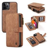 Custodia in pelle CaseMe per iPhone 12 Mini 11 Pro XS Max X XR SE 2020 8 7 6 6S Plus 5 portafoglio magnetico porta carte di credito Coque