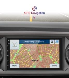 Image 2 - AMPrime Samochodowy odtwarzacz multimedialny 2 DIN z GPS, 7 calowy ekran, Android, Bluetooth, radio FM, wsparcie stereo, wejścia USB i AUX, MP5