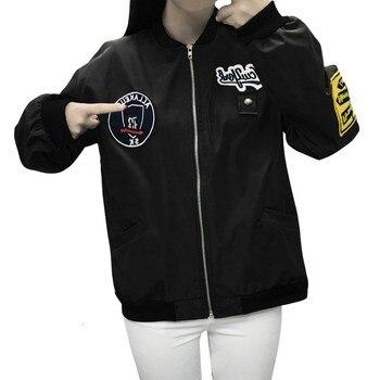 2019 New Windbreak Jacket Women Long Sleeve Ladies Casual Oxford Baseball Zipper Pockets Jackets Coat Harajuku Streetwear z0923