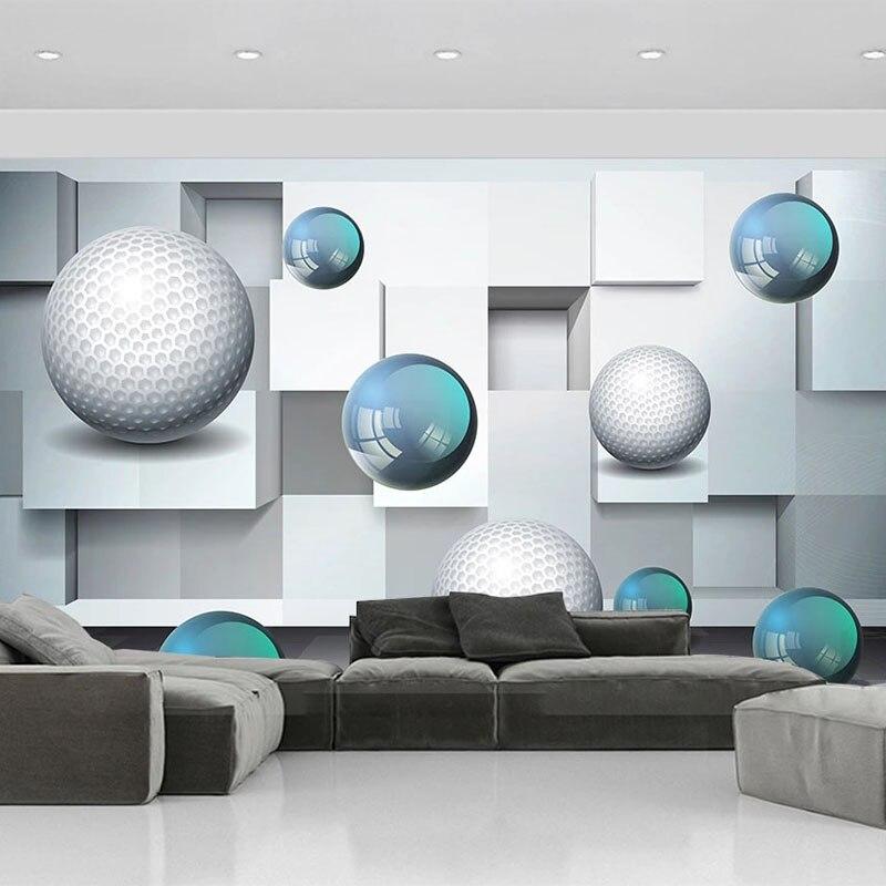 Настенные 3D-обои на заказ, стены с абстрактным рисунком хрустального шара, для гостиной, телевизора, дивана, спальни, домашний декор