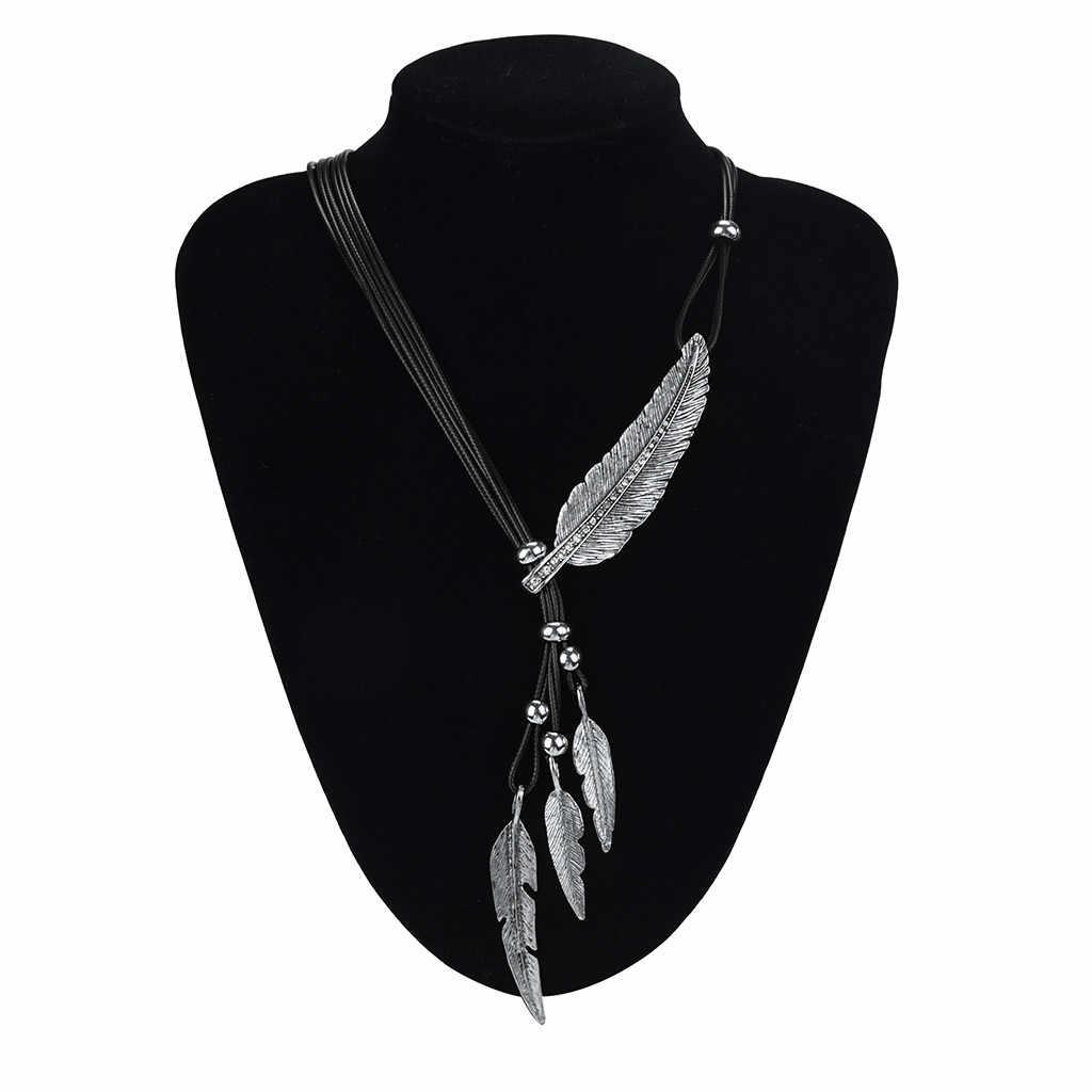 Alloy Feather Antique Vintage Time Necklace Sweater Chain Pendant Jewelry Hot Jewelry Accessories Gift Delicate Dec 12