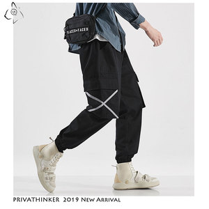 Image 2 - Privathinker Men Casual Army Green Cotton Cargo Pants Mens 2020 Autumn Street Style Joggers Male Hip Hop Pockets Oversize Pants