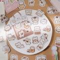40 Teile/los Nette Kawaii Tier Papier Katze Box Aufkleber Kalender Tagebuch Journaling Schreibwaren