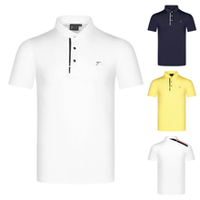Polo-Shirt Golf-Apparel Short-Sleeved Sports New And Men Breathable Wicking Moisture