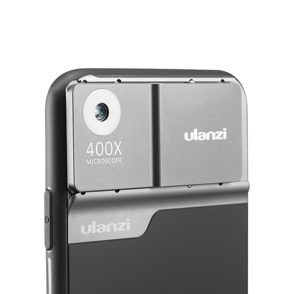 Ulanzi 400X Microscope Phone Lens Kit For Iphone 11 Pro Max With Case Bulit-in Light Lens Kit