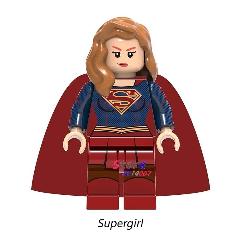 Single DC Comics Justice League Superman Batman The Flash Supergirl Building Blocks Bricks Toys For Children