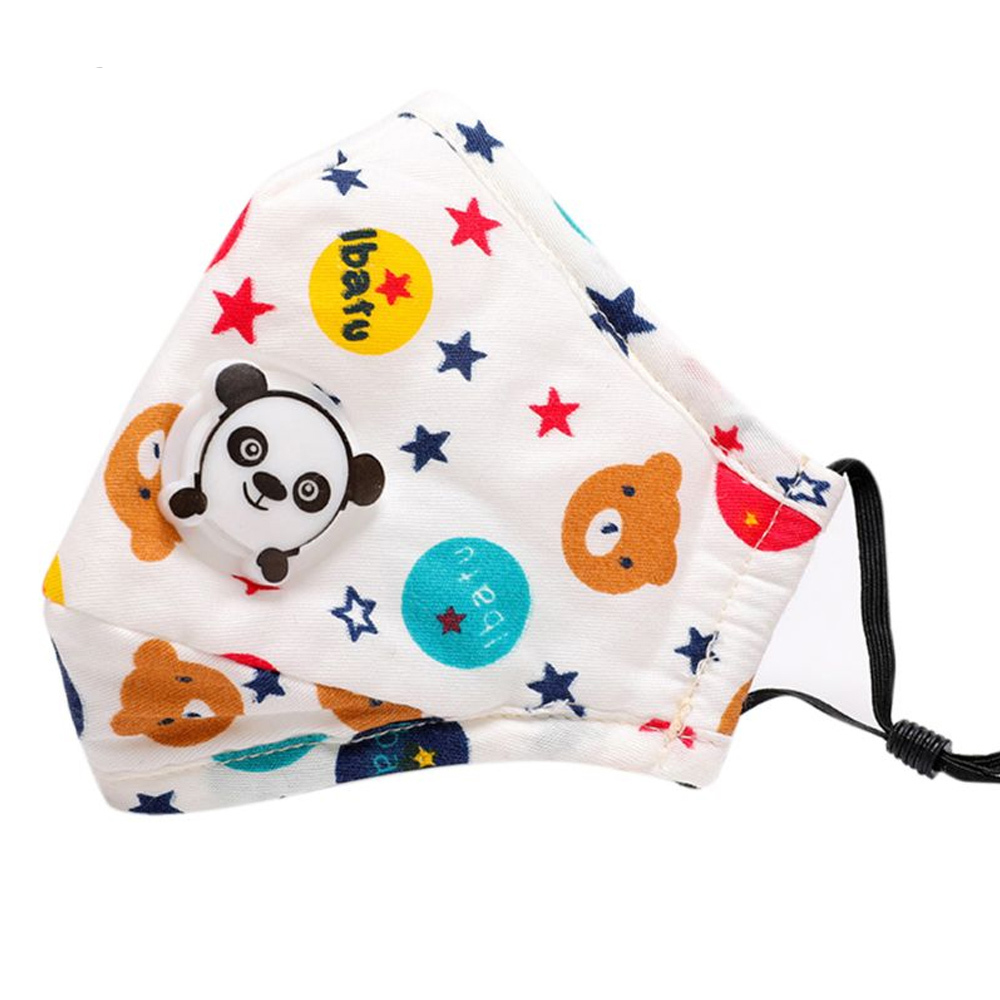 1Pcs PM2.5 Masks ffp3 with valve antivirus children Cartoon Panda Thicken reusable masks Dust Mask Fits 2-10 Years Old Kids 5