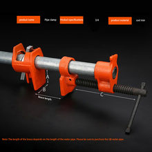New 3/4 Inch Heavy Duty Pipe Clamp for Woodworking Wood Gluing Pipe Clamp Steel Cast Iron Pipe Clamp Fixture Carpenter Hand Tool