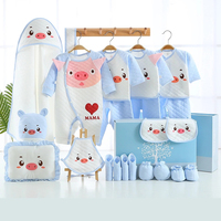 New 22Pieces Newborn Baby Girls Clothing 0 6months Infants Baby Clothes Boys Clothing Gift Set Cotton Underwear Warm Suit