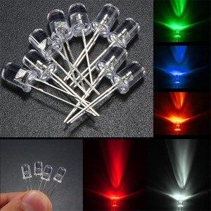 Image 5 - Набор светодиодных ламп, 50 шт., 5 мм, Круглый, прозрачный, в 5 цветах, красный, зеленый, синий, желтый, белый