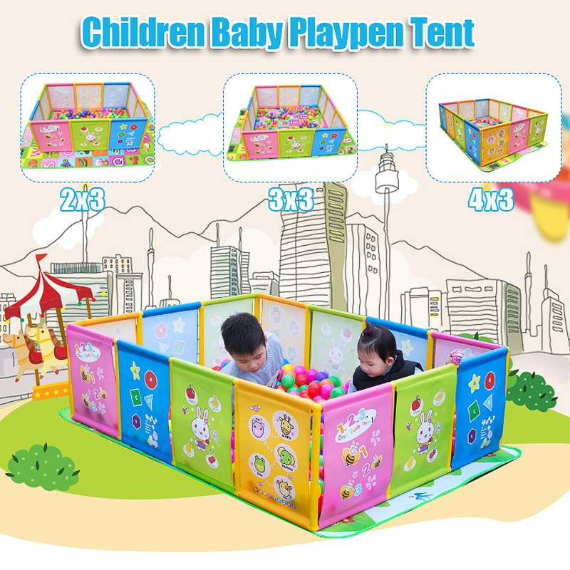 Baby Playpen Pool Balls For Newborn Baby Toddler Craw Fence Playpen For Baby Pool Children Playpen Kids Safety Barrier Game