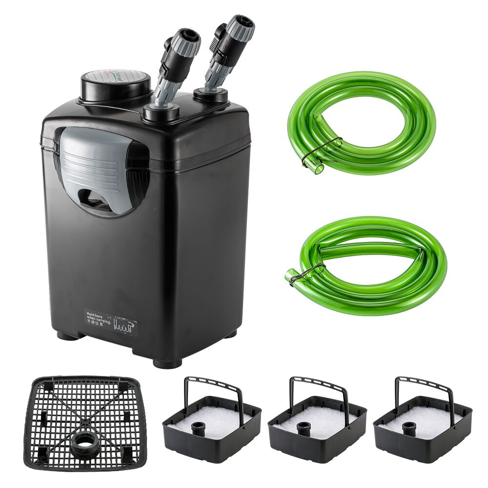 22W 1000L/h JEBO 835 3-Stage Ultra Quiet Aquarium Filter External Canister Filter For Marine Fish Tank Saltwater Reef Up To 300L