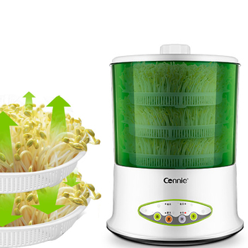 10L Bean Sprouts Machine Intelligent Home Double layer Fully Automatic Intelligent High Capacity Soybean Green Bean Sprouts водонагреватель электрический electrolux ewh 80 royal flash