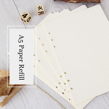 A5 Loose Leaf Notebook Paper Refill Spiral Binder Inner Page 6 Holes 45 sheets Weekly Monthly Planner To Do List Line Dot Grid coil spiral toread calendar style weekly schedule planner to do list notebook diary