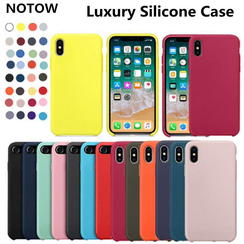 NOTOW Luxury Official <font><b>Original</b></font> Silicone Cover <font><b>Case</b></font> For <font><b>iphone</b></font> SE 2020/7 8 /6 6s/ 7+8 +11/11Pro /11Promax/<font><b>X</b></font> <font><b>XS</b></font> MAX /XR/<font><b>XS</b></font>/<font><b>X</b></font> image