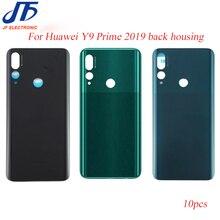 10 Chiếc Lưng Pin Thay Thế Cho Huawei Y9 Prime 2019 Phía Sau Nhà Ở Kính Khung Xe Cửa Ốp Lưng + Miếng Dán