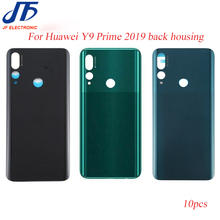 10Pcs Back Battery Cover Replacement For Huawei Y9 Prime 2019 Rear Housing Glass Chassis Door Back Case + sticker