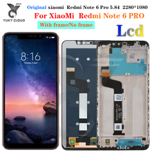 For Xiaomi Redmi Note 6 Pro LCD Display Screen Assembly + Frame FOR Redmi Note 6 Pro Touch Screen LCD Replacement