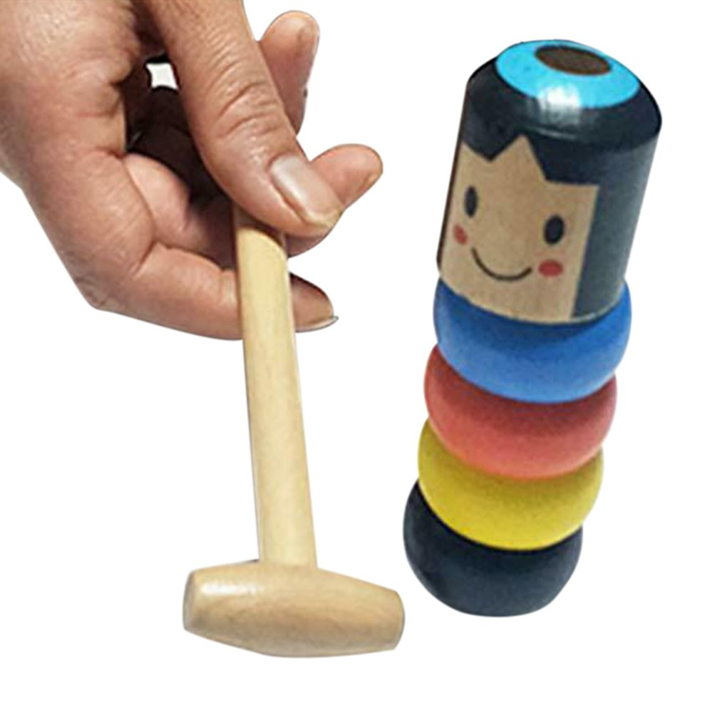 Funny Toy Magic Gift A Little Small Wooden Unbreakable Man Puppet Funny Toy Gift For Adult Kids
